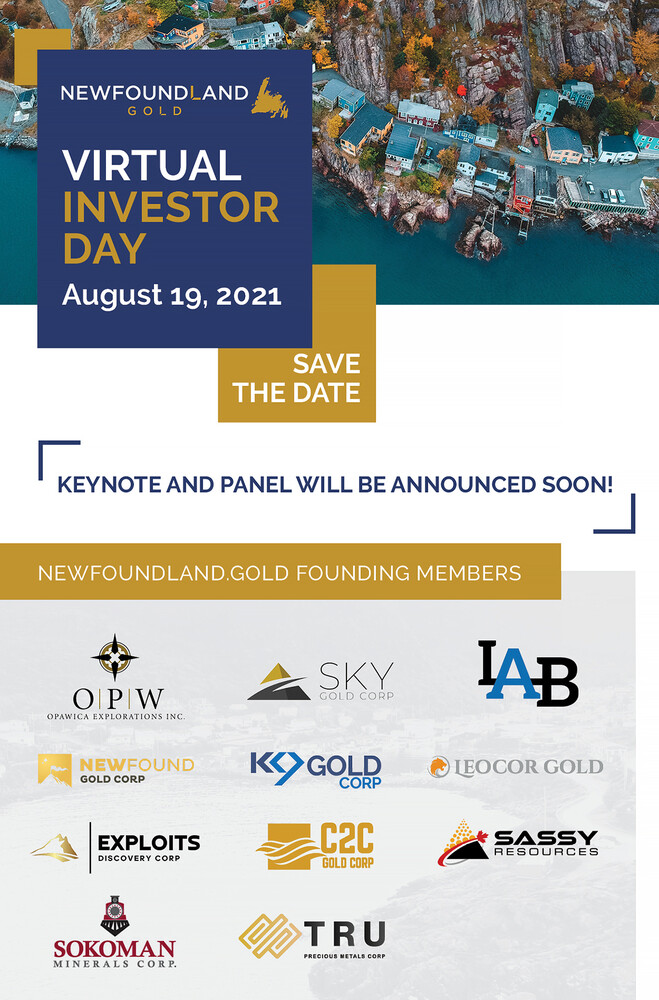 Newfoundland Gold Virtual Investors Day August 19 2021